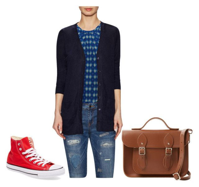 """Gilt."" by crazygirlandproud ❤ liked on Polyvore featuring Joie, The Cambridge Satchel Company and Converse"
