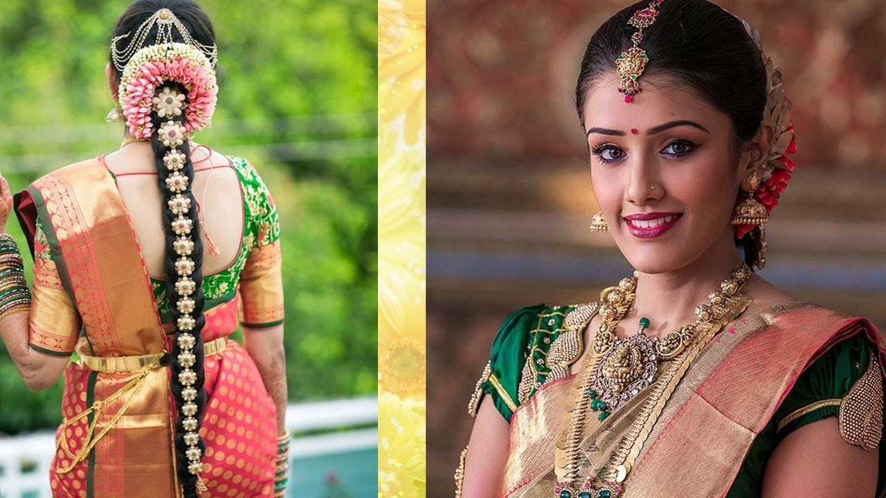 South Indian Bridal Makeup Hairstyle Tutorial Step By Step