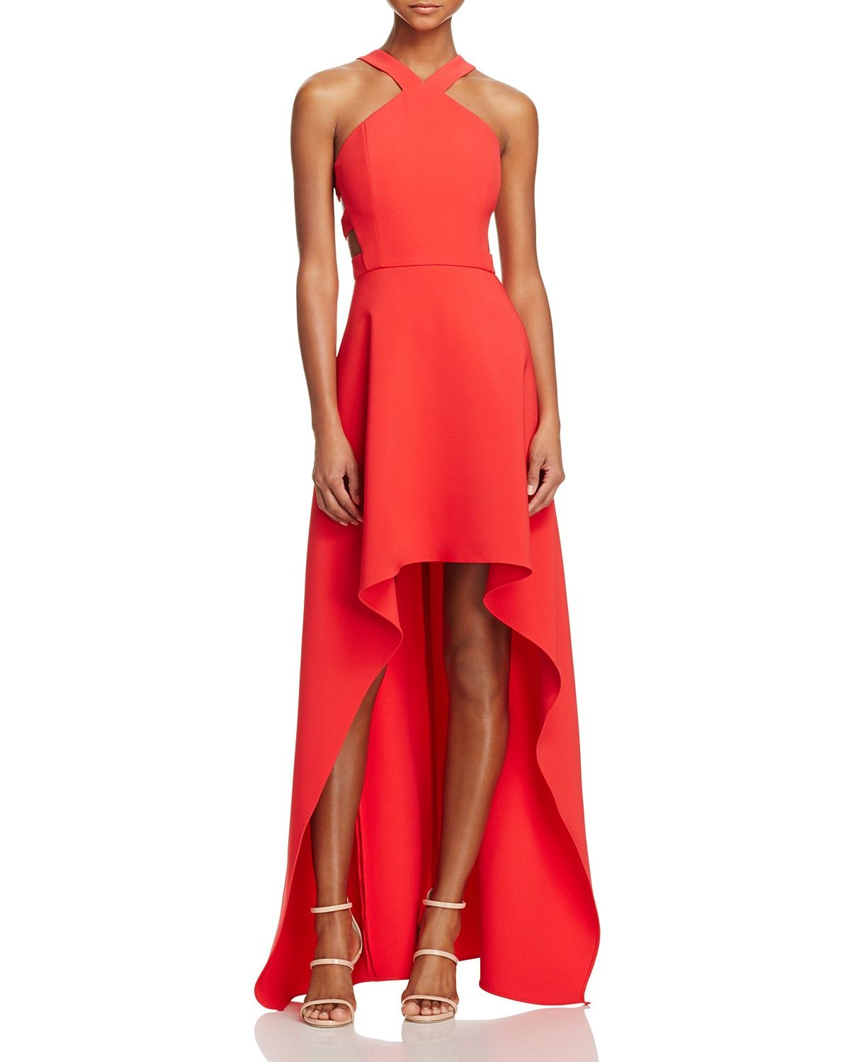 Bcbgmaxazria Cutout High Low Gown 100 Bloomingdale S Exclusive Best Prom Dresses Gowns Really Cute Outfits [ 1500 x 1200 Pixel ]