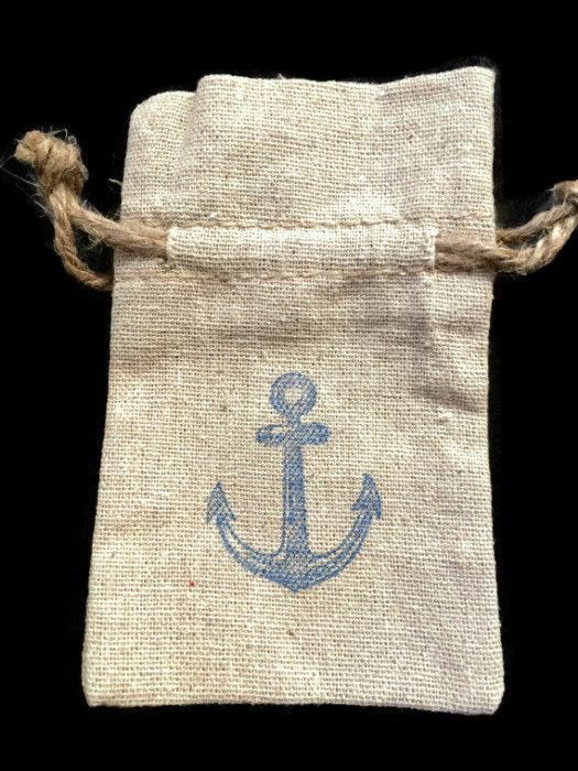 25 Nautical Favor Bags Anchor Beach Wedding Party Favors Theme Linen
