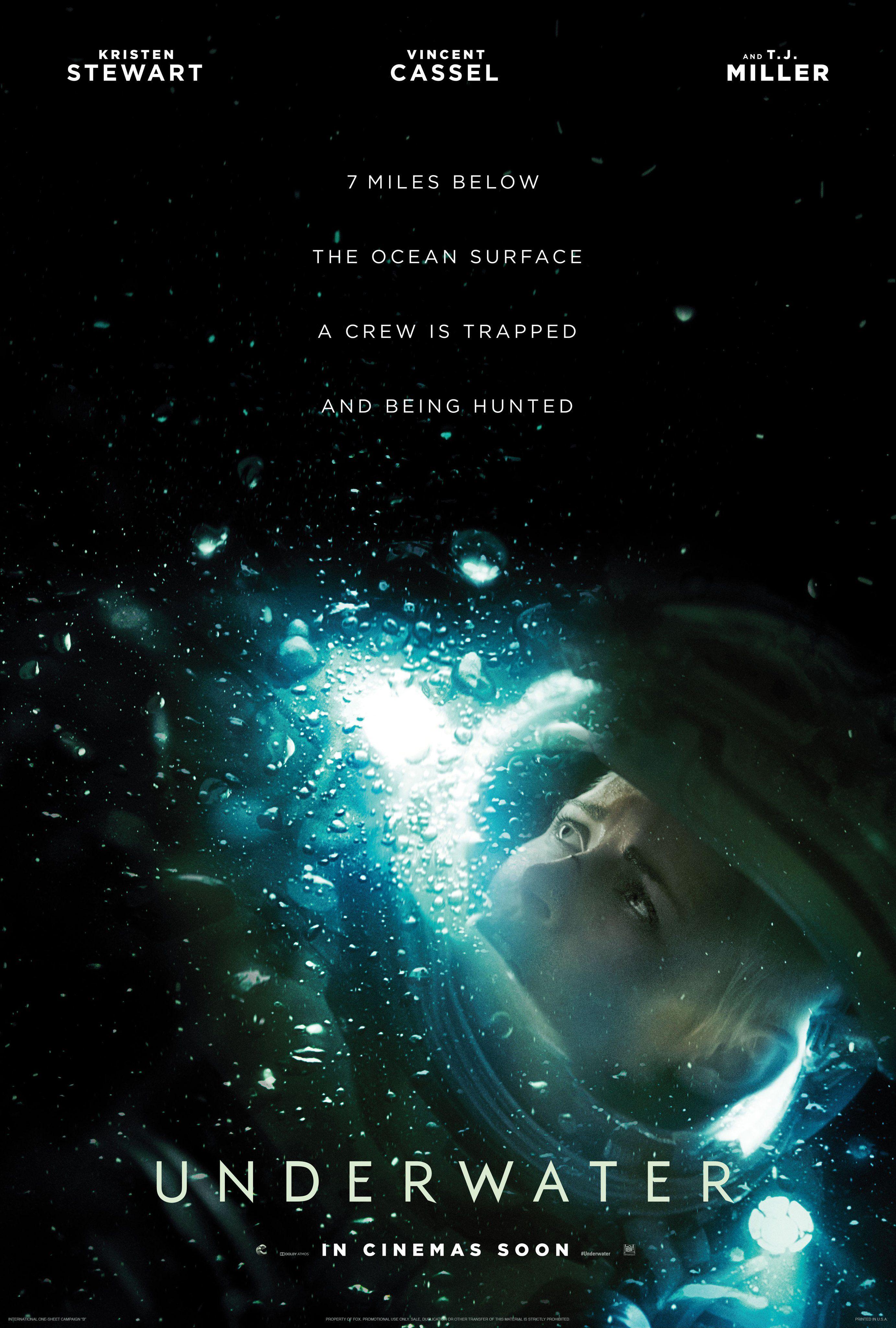 Underwater (2020) | International Poster | Kristen Stewart Vincent ...