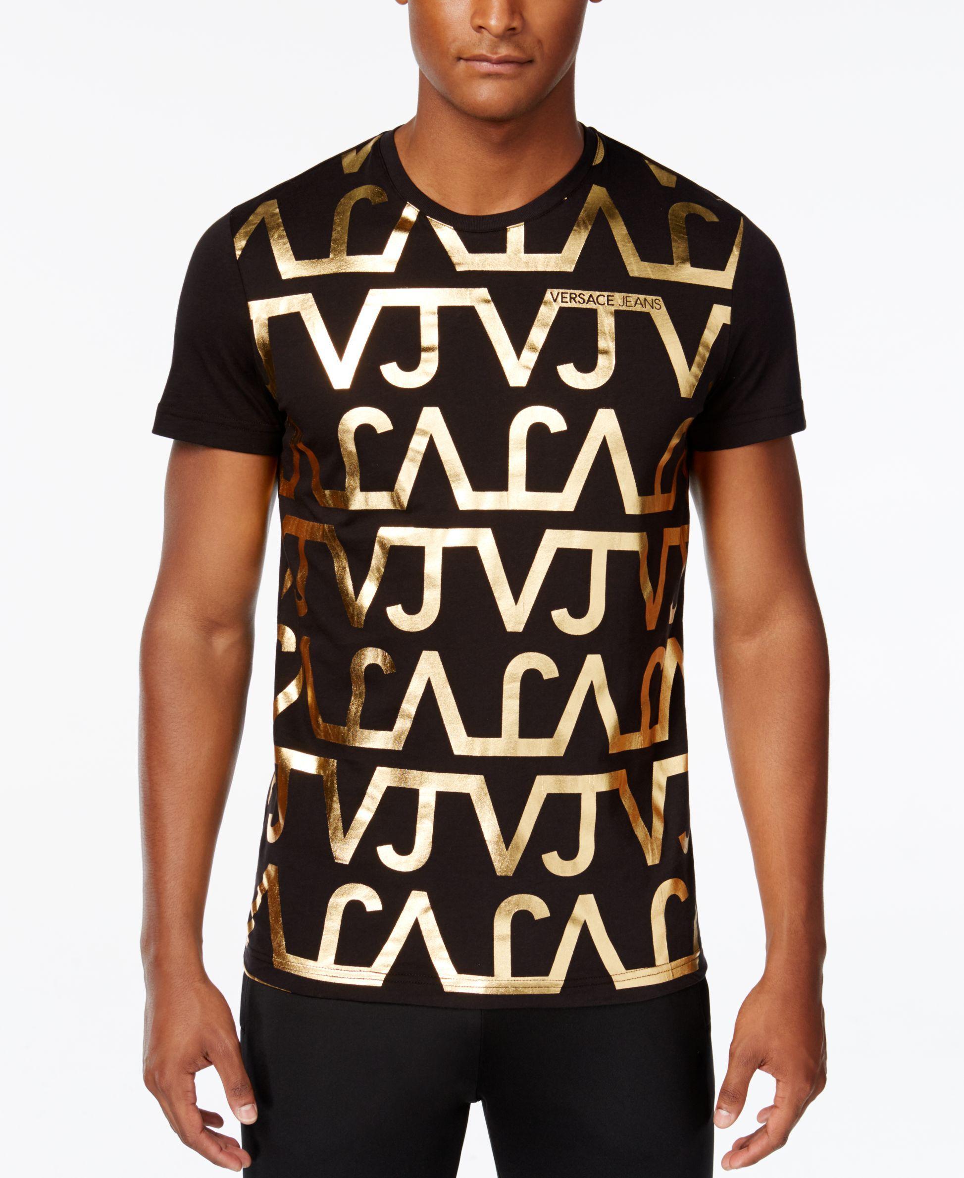 Versace Jeans Men S Graphic Print T Shirt Mens Tshirts Versace Jeans Mens Versace Mens Shirt