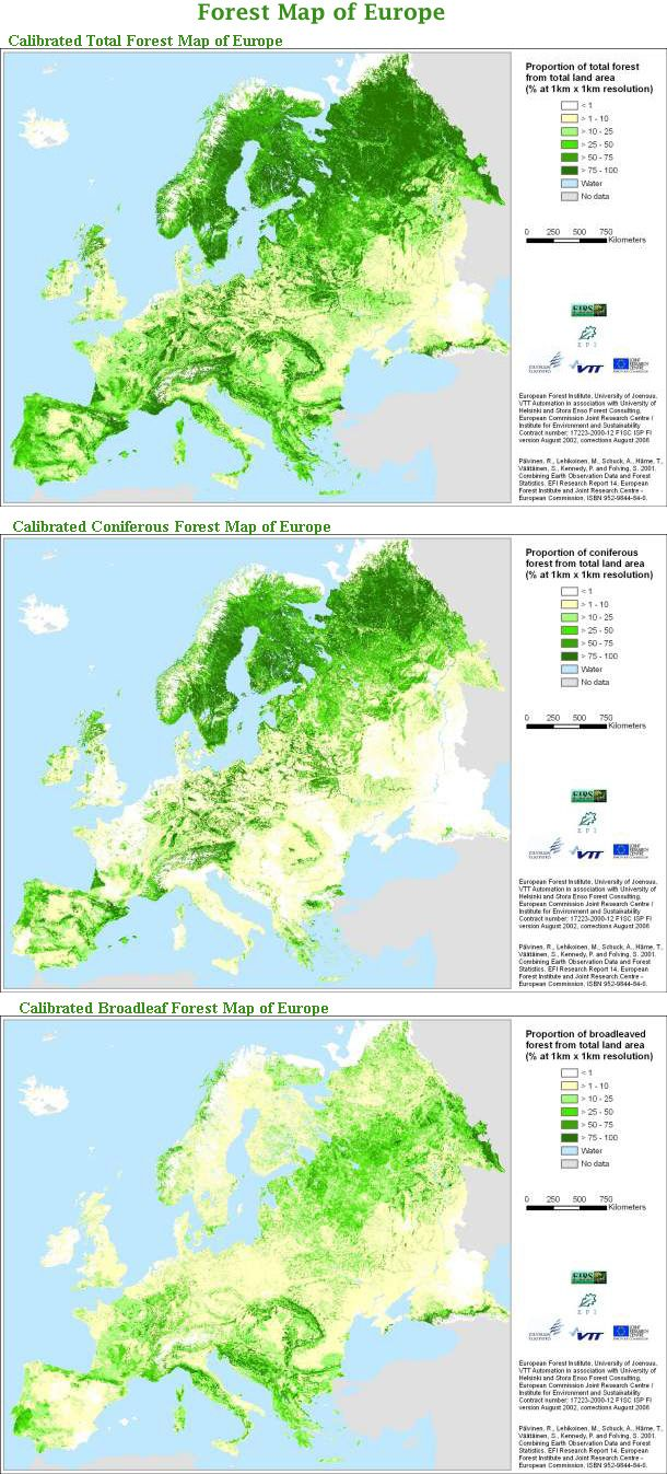 Forests map of Europe | Interesting Maps | Pinterest