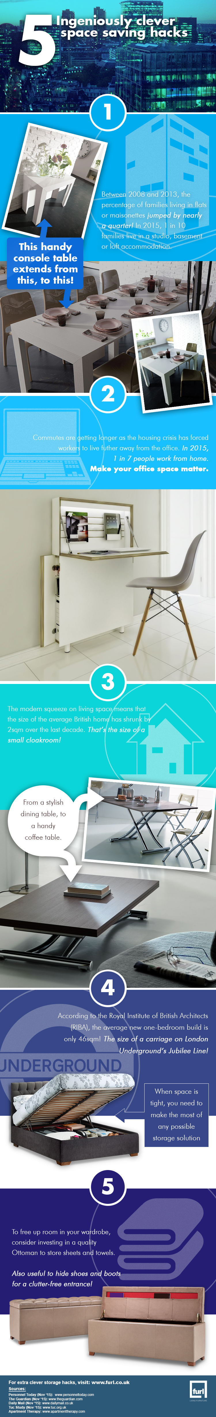 5 Ingeniously Clever Space Saving Hacks