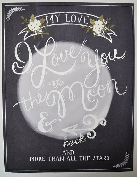 I love you to the moon and back wedding print 11 by firstsnowfall, $46.00