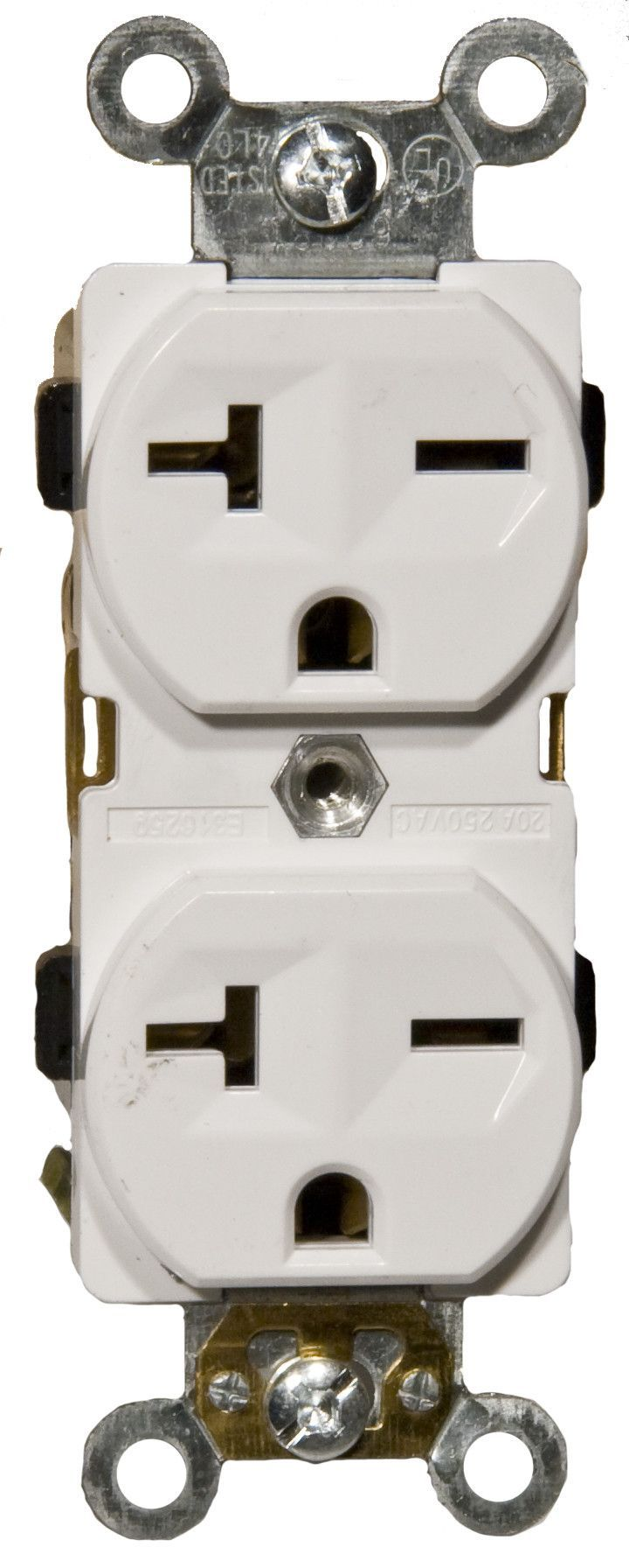 20A-250V Industrial Grade Duplex Receptacle in White (Set of 3)