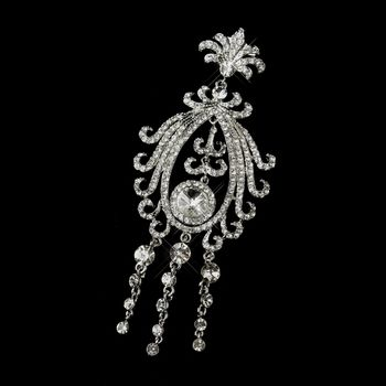 Antique Silver Clear Rhinestone Brooch for your wedding! Visit specialoccasionsforless.com for fabulous accessories - for less!
