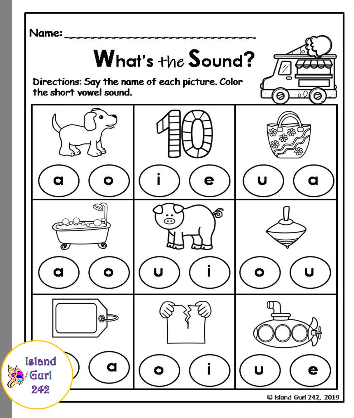 Short Vowels No Prep Worksheets