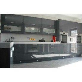 Dkbc High Gloss Acrylic Grey Flat M32 Kitchen Cabinets And Vanities Dkbc Kitchen Cabinet Kitchen Interior
