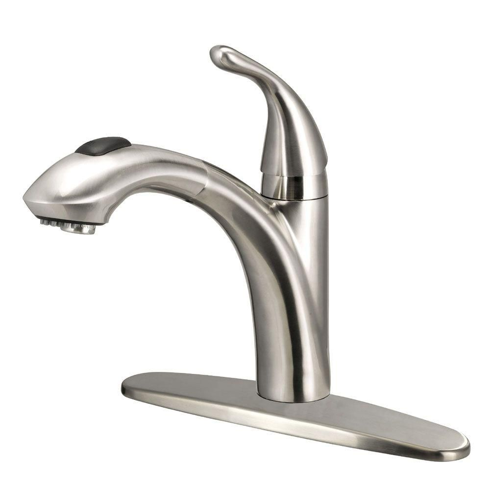 Glacier bay keelia single handle pull out sprayer kitchen faucet in brushed nickel fp4a0052bnv the home depot 98