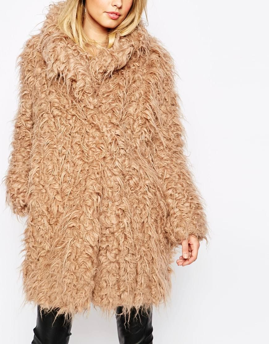 Image 3 of Supertrash Orson Shaggy Coat | clothing | Coat