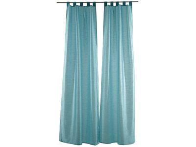 paire de rideaux byzance en polyester bleu 2x 110x240 cm
