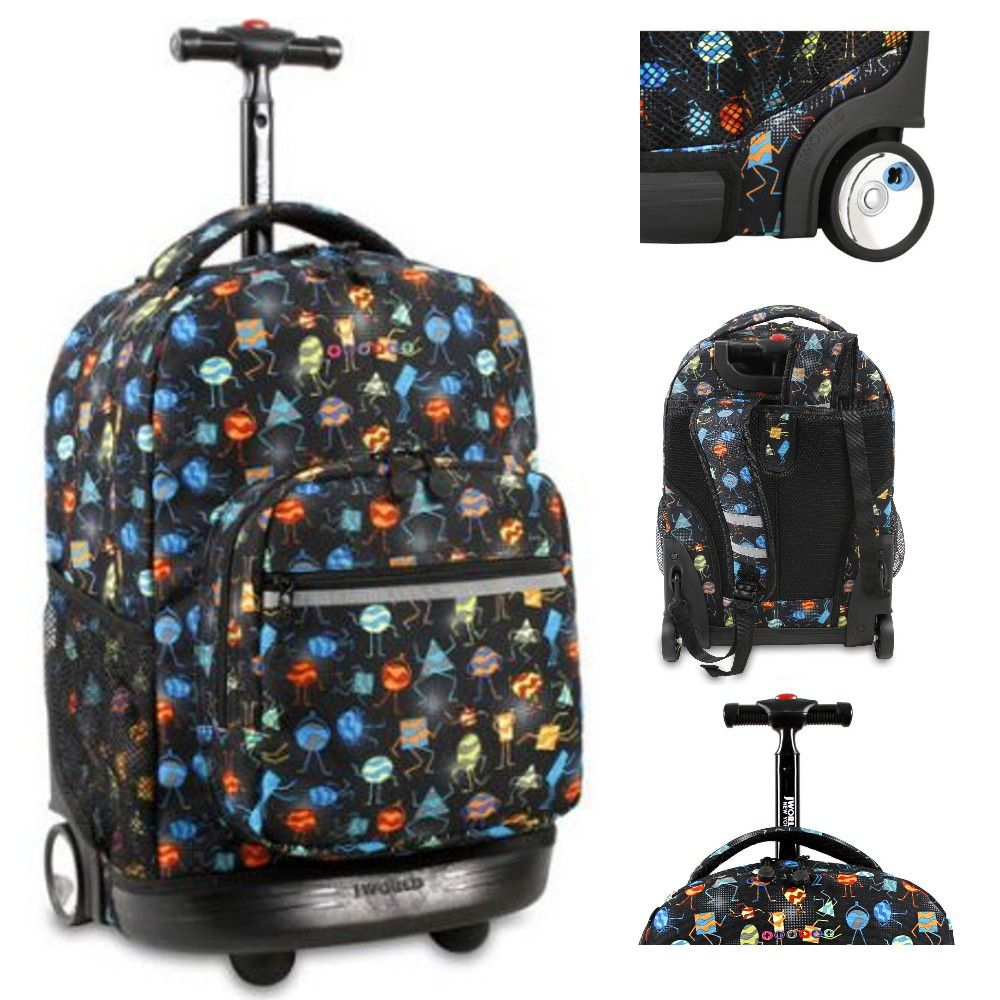 J World New York Sunrise 18 Inch Rolling Backpack, Party Mobs Best ...
