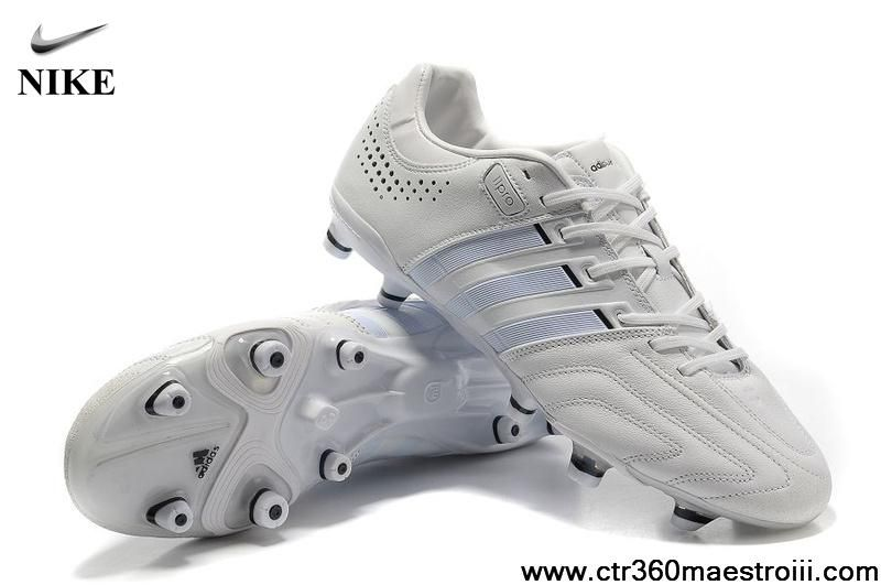 big sale f430d 26a77 Cheap Adidas Adipure 11Pro TRX FG Running White-White-Black Soccer Boots  For Sale