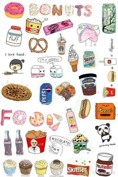 Pin by jorge correa on hjj pinterest wallpaper - Kawaii food wallpaper ...