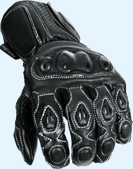 Black Panther Sports Biker Vented Ce Armored Leather Motorcycle Motorbike Gloves Ebay Biker Gloves Gloves Biker