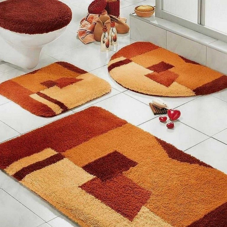 Where To Buy Modern Rugs With Images Bathroom Rug Sets Orange