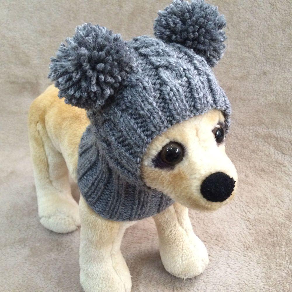 Pet Clothes Apparel Handmade Knit Outfit Pom Pom Hoody