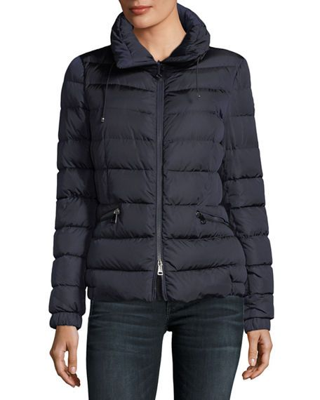 moncler imin long quilted puffer coat black