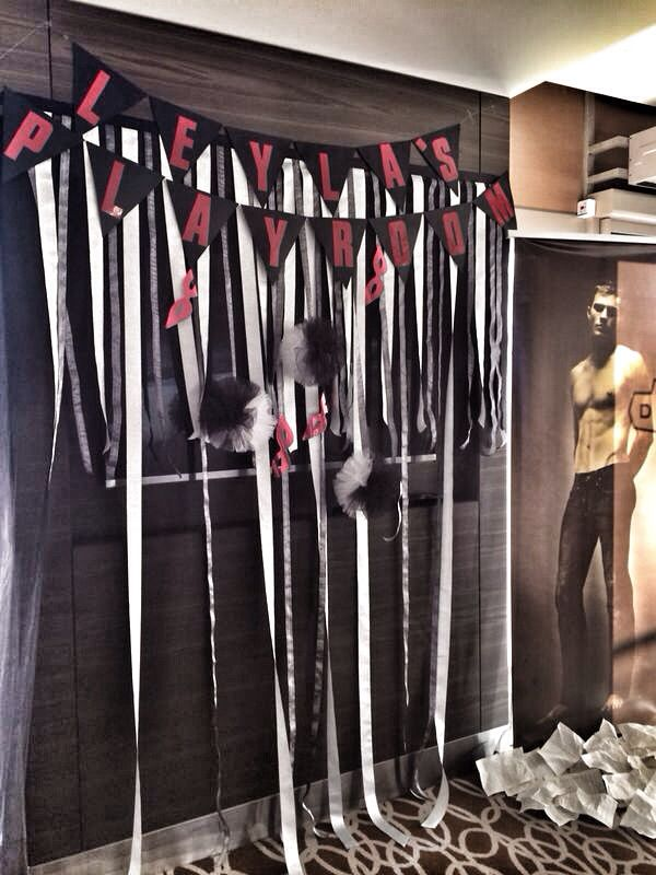 Fifty shades of grey bachelor party decoration bachelor for Bachelor party decoration