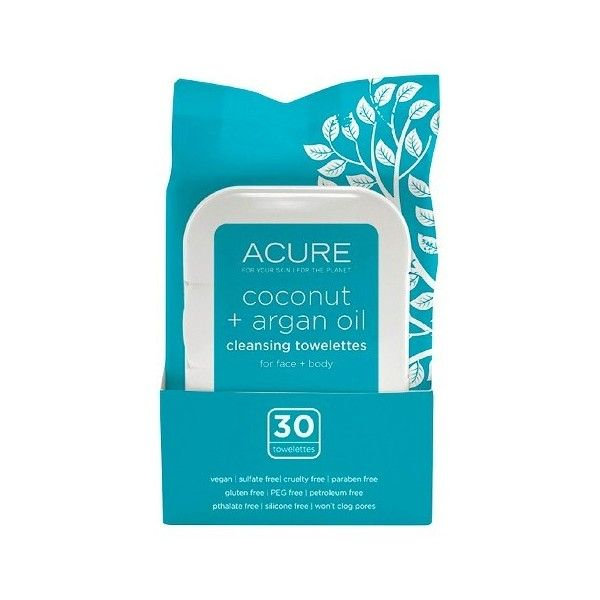 Acure Organics Coconut + Argan Oil Cleansing Towelettes