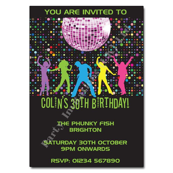 Disco Party Theme Invitation Instantly Downloadable and Editable – Disco Party Invitations Free
