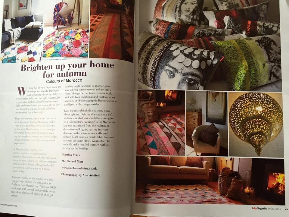 Brightening up your home for Autumn....in Worcestershire's Edge Magazine