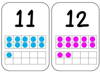 number cards that display the number and how it is represented on a ten frame cards available hereplease rate and comment if you download grade salt life