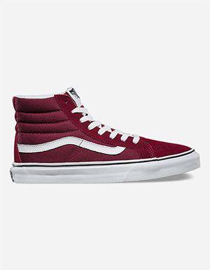 cab228a4e9 VANS Sk8-Hi Slim Womens Shoes Burgundy