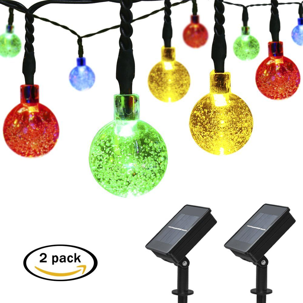 Mrupoo christmas solar globe string lights 30 led 21ft 8 modes apexpower 2 packs solar powered globe string lights 30 led waterproof 8 modes christmas crystal ball lights for outdoor indoor thanksgiving patio lawn aloadofball Image collections