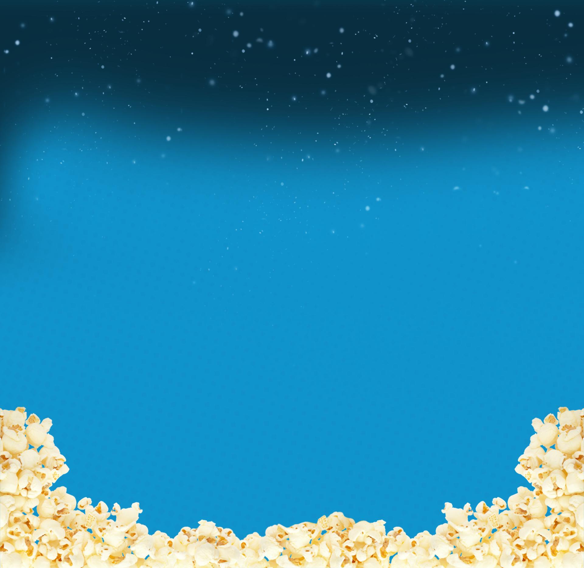 Popcorn Wallpaper: Background - Popcorn On Blue