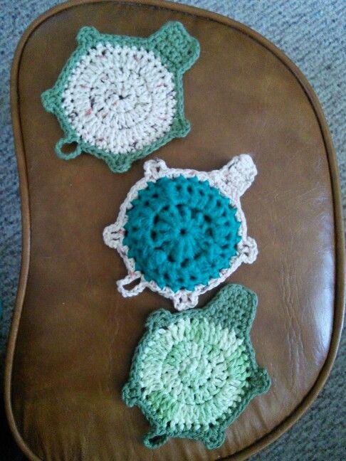 Turtle dishcloth and scrubbie | kitchen | Pinterest