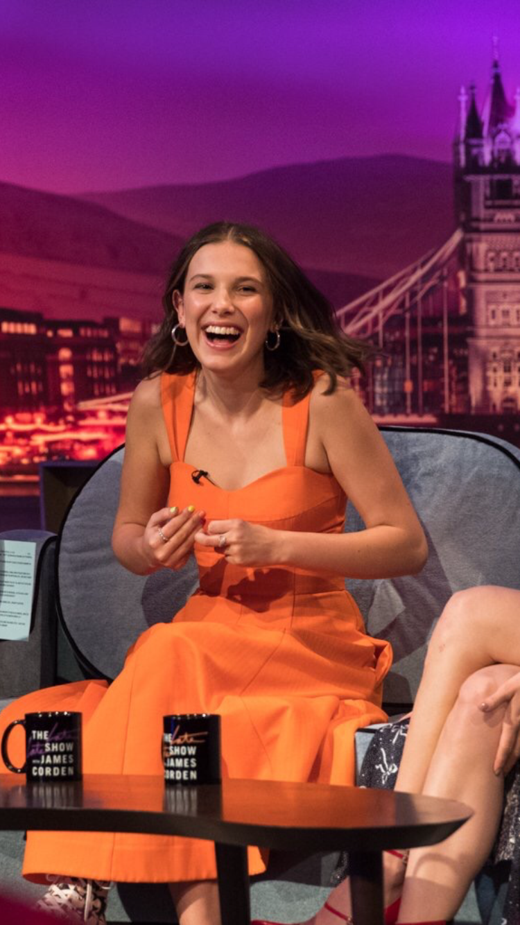 Millie Bobby Brown in the late late show!