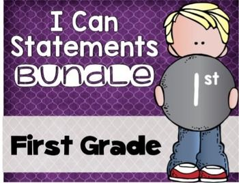 I Can Statements Bundle First Grade; I can statements; objectivesI have now bundle my I Can Statements into one easy download! You will receive over 260 pages of language arts and math I cans for EVERY CCSS! There are also editable pages included for you to type in the wording that you need!