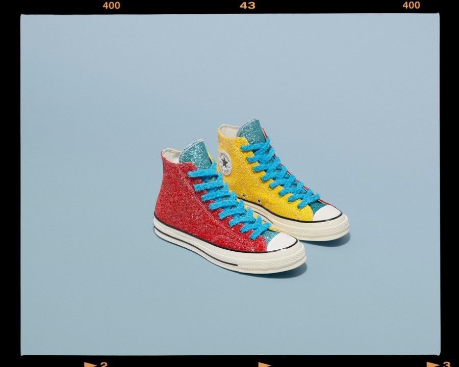 Converse x JW Anderson Chuck Taylor All Star 70 S Hi 10 paillettes argent or | eBay