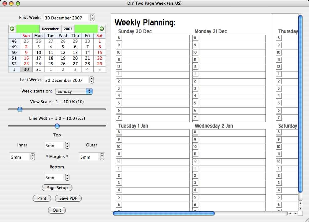 Dynamic Templates For Creating Weekly Planners Diyplanner Com