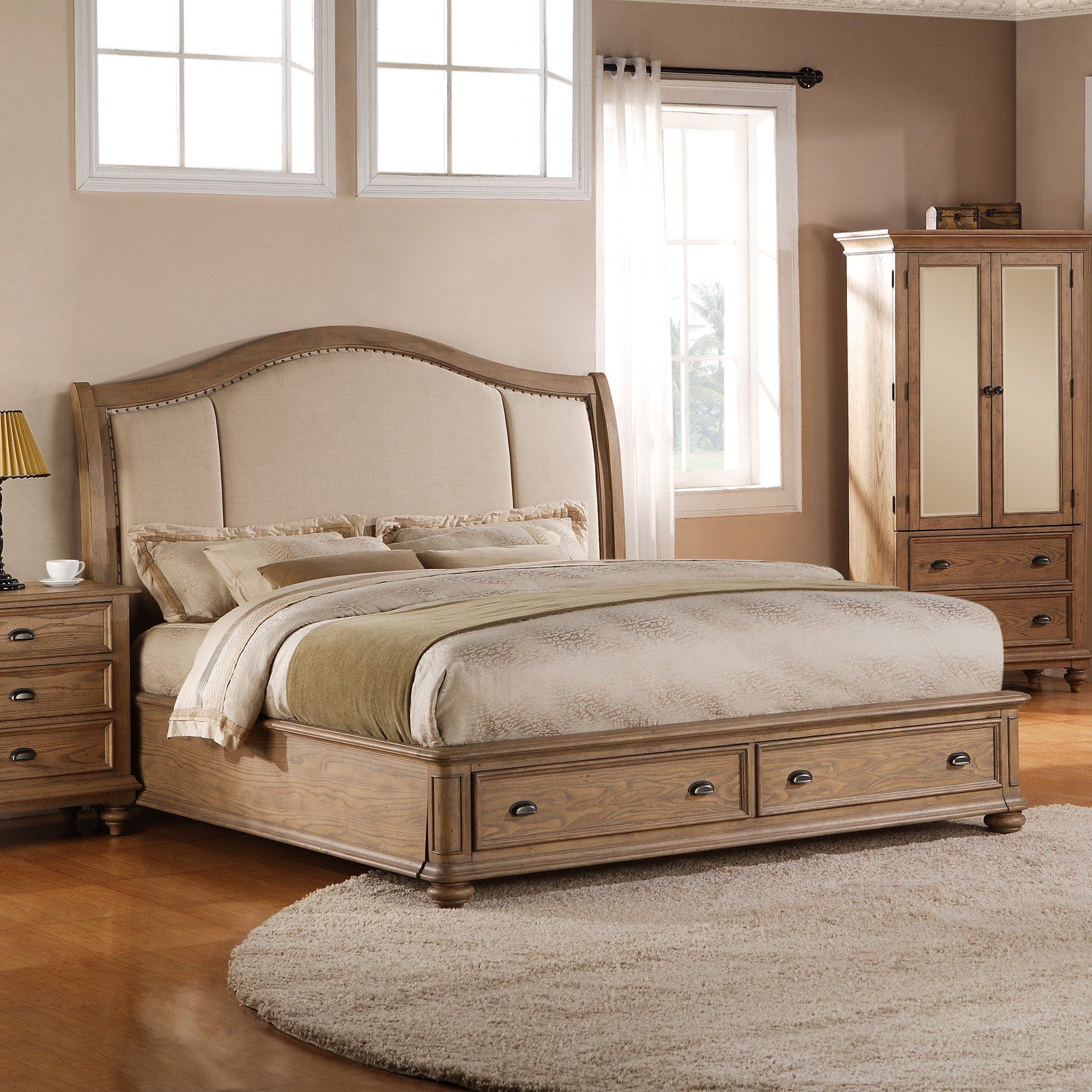 Have To Have It Coventry Sleigh Storage Platform Bed Weathered