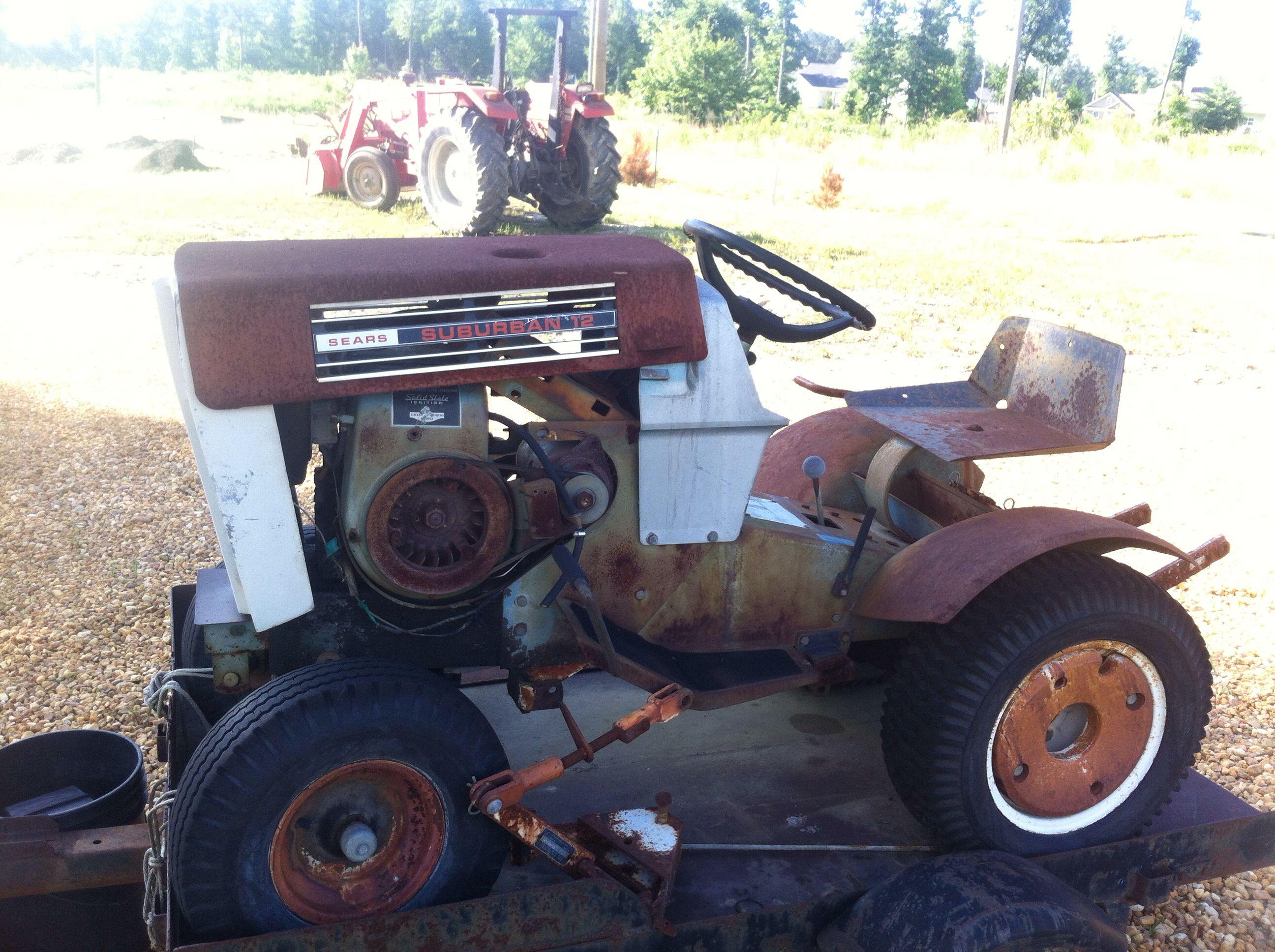 Sears Suburban 12 Garden Tractor : Sears suburban vintage tractors riding mowers