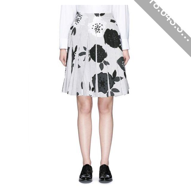 Thom Browne Double blossom intarsia pleat skirt