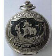 rare beautiful MOLNIJA DISCOVERY day pocket watch 1492-1992 ...