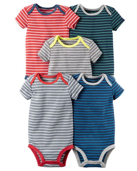 909912625c 5-Pack Short-Sleeve Bodysuits from Carters.com. Shop clothing   accessories  from a trusted name in kids