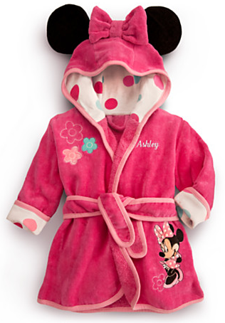 b67ec367d Gifts for the New Baby Girl  Personalizable Minnie Mouse Bath Robe ...