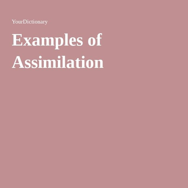 Examples Of Assimilation Pinterest Cultural Assimilation