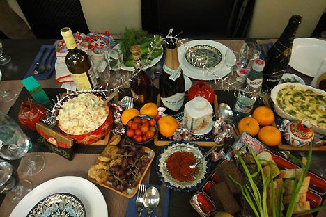 Happy Soviet New Year's Eve | New years eve dinner, Russian recipes, Food  to make