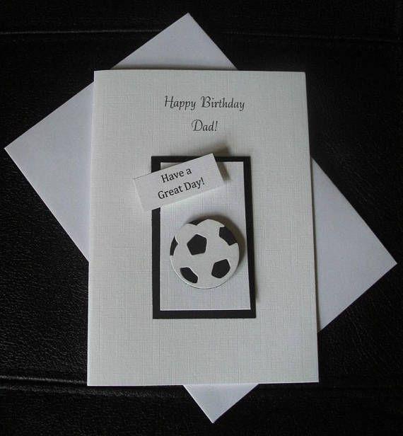 Male Birthday Card Football Design Dad Grandad Or Son Birthday Cards For Men Dad Birthday Card Birthday Cards