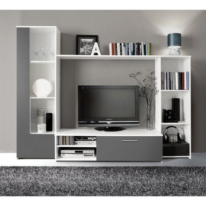 Meuble TV mural Pilvi 220cm coloris blanc Finlandek - Meubles à bon