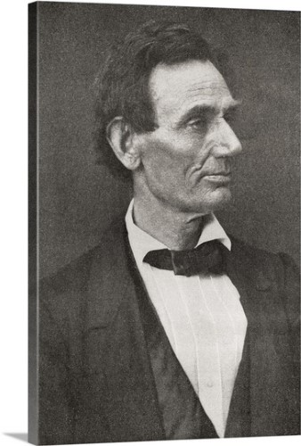Vintage Photography Portrait President Abraham Abe Lincoln Canvas Art Print