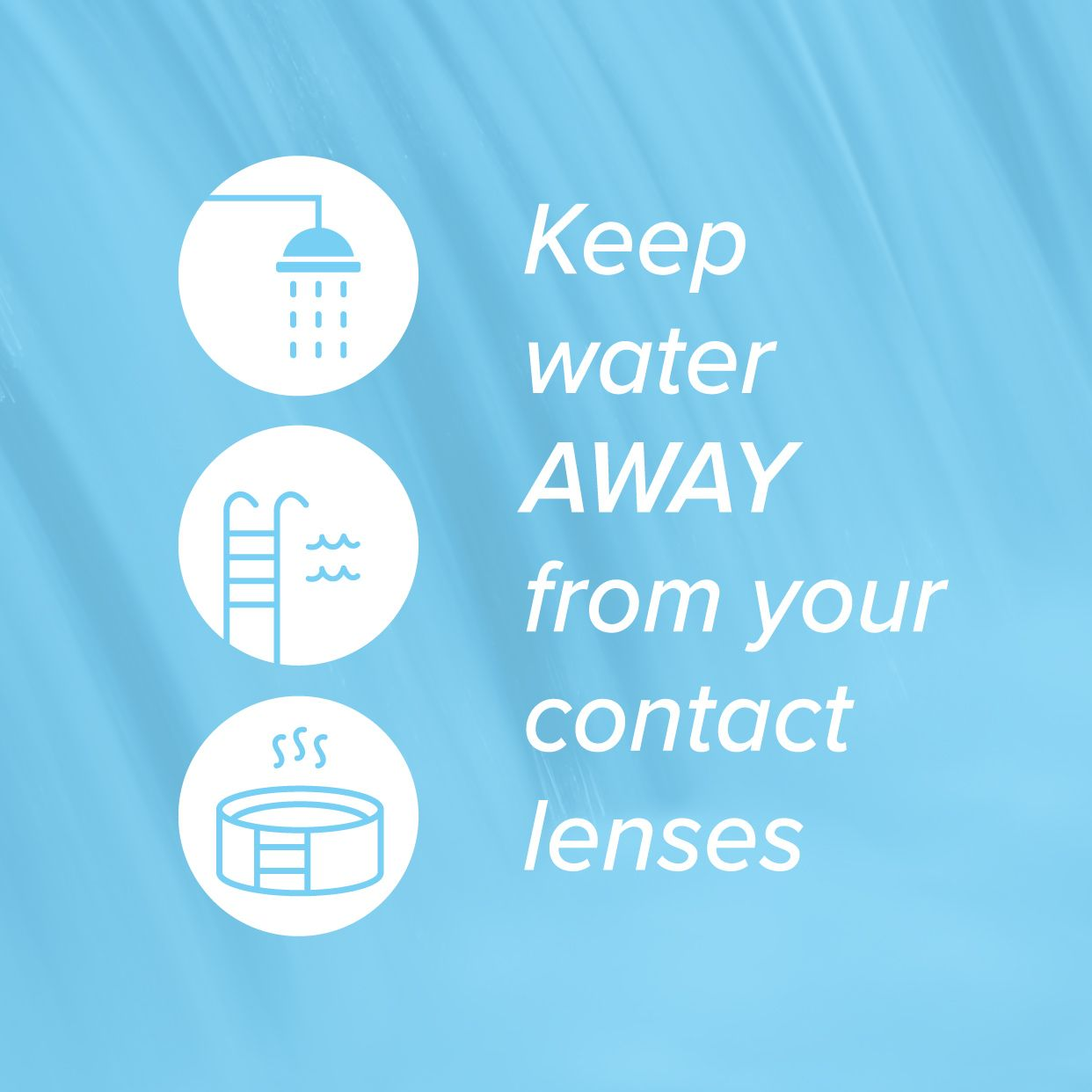 Water Isn T Good For Contact Lenses Because Even Clean Water Contains Microorganisms That Could Give You An Eye Infe Contact Lenses Tips Contact Lenses Lenses