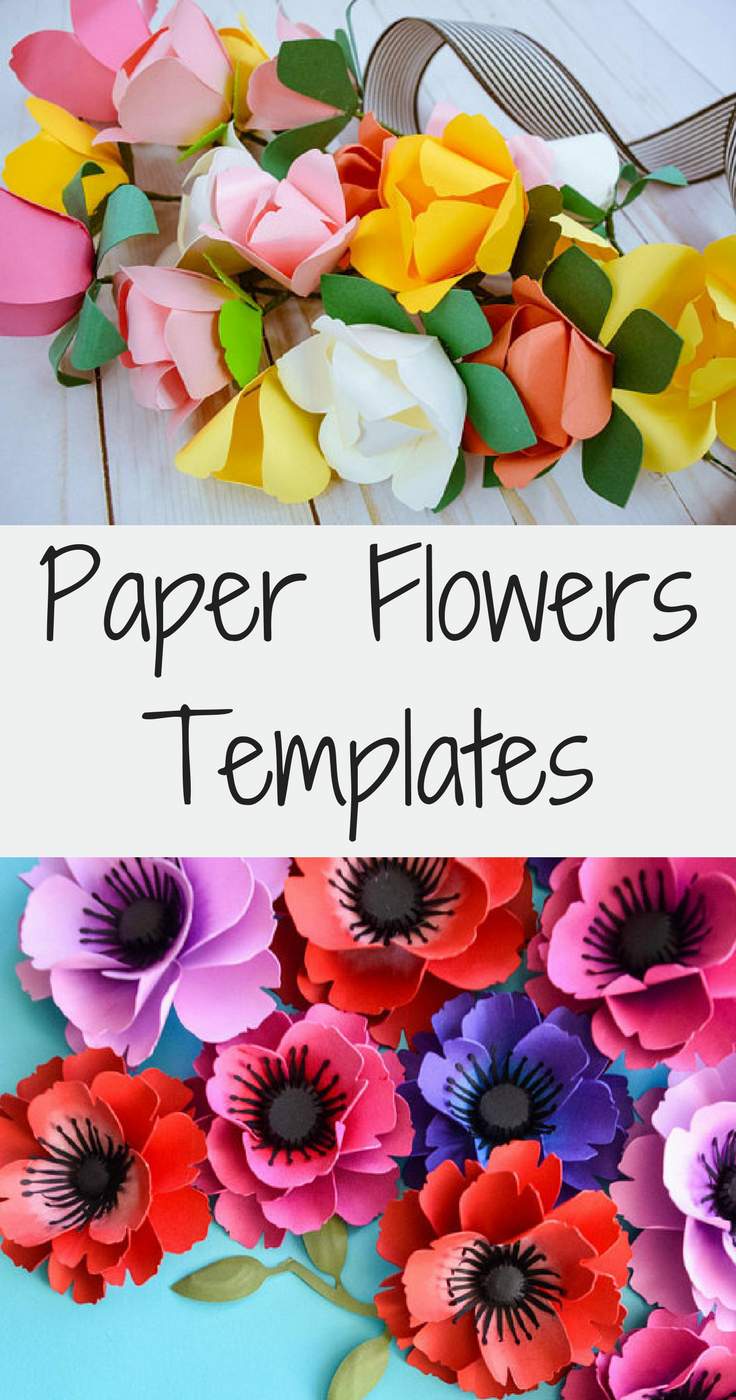 Learn how to make beautiful paper flowers using an easy template ...