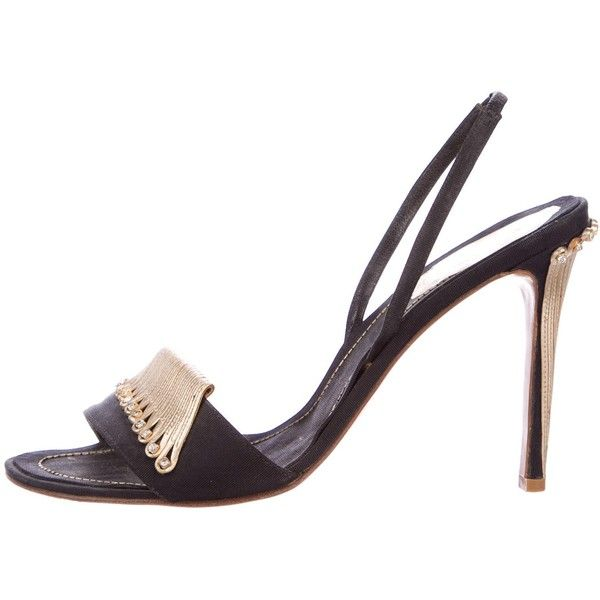 René Caovilla Canvas Embellished Sandals buy cheap low shipping fee for sale footlocker latest collections for sale Vsxhu